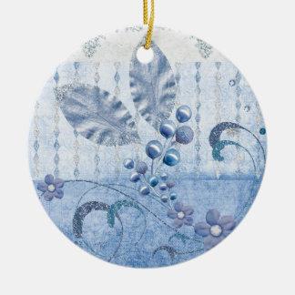 Glitter stars ceramic ornament