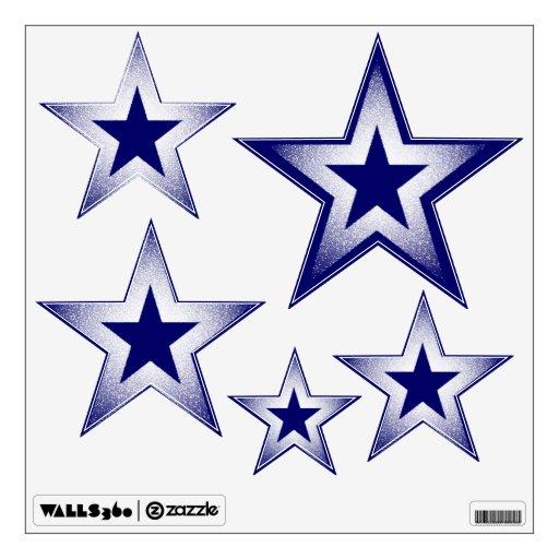 Glitter stars room sticker