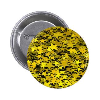 glitter_stars_yellow pinback button