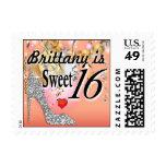 Glitter Stiletto Celebration for Sweet 16 | peach Stamp