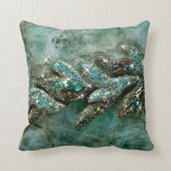 Glitter Stone Throw Pillow
