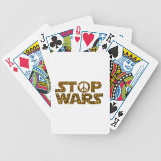 glitter stop wars bicycle playing cards