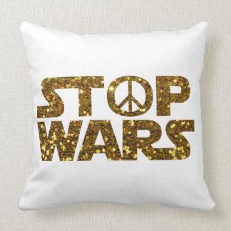 glitter stop wars throw pillow