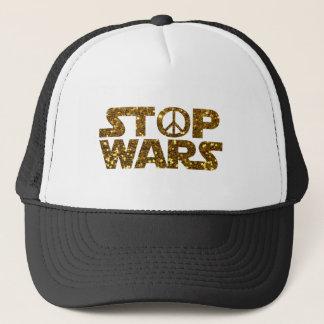 glitter stop wars trucker hat