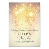 glitter string lights elegant vintage wedding 5x7 paper invitation card