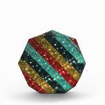 Glitter Striped Bold Colorful Design Acrylic Award