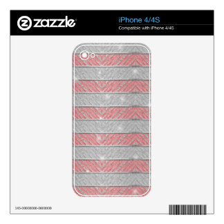 Glitter Striped Zig Zag Decal For iPhone 4