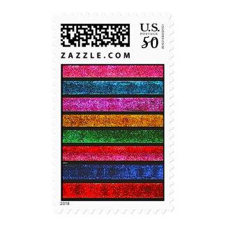 Glitter Stripes Postage