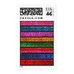 Glitter Stripes Postage Stamp