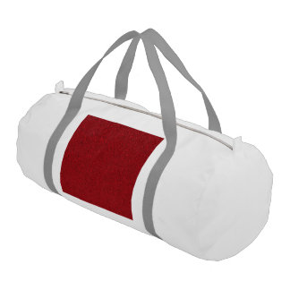 glitter structure red. gym duffel bag