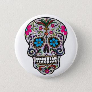 glitter Sugar Skull Pinback Button