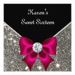 Glitter Sweet 16 Birthday Party Custom Invitation