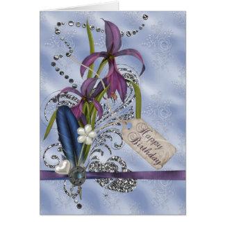 Glitter Swirls Birthday Card