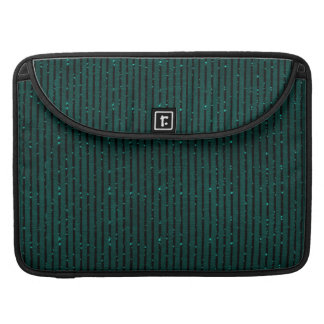 glitter teal green stripes Macbook sleeve Sleeves For MacBook Pro