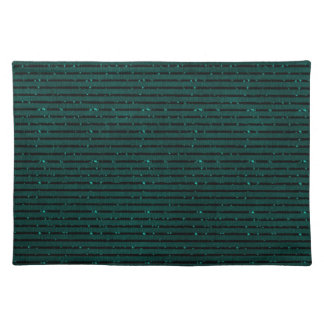 glitter teal stripes place mat