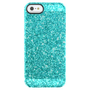 Beach Themed Glitter Template Clear iPhone SE/5/5s Case