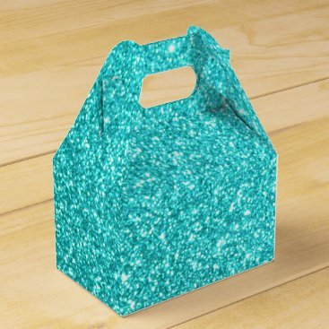 Beach Themed Glitter Template Favor Box