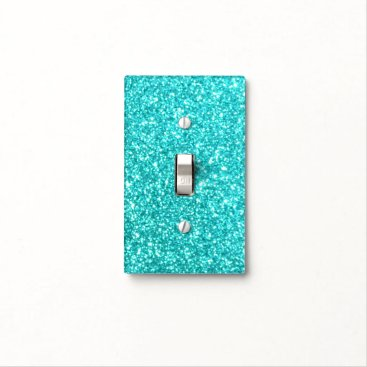 Beach Themed Glitter Template Light Switch Cover