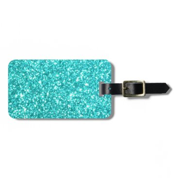 Beach Themed Glitter Template Luggage Tag
