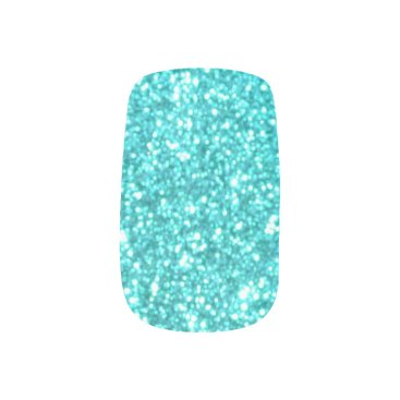 Beach Themed Glitter Template Minx Nail Wraps