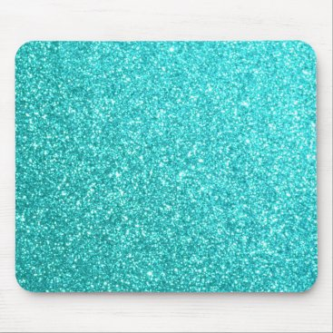 Beach Themed Glitter Template Mouse Pad