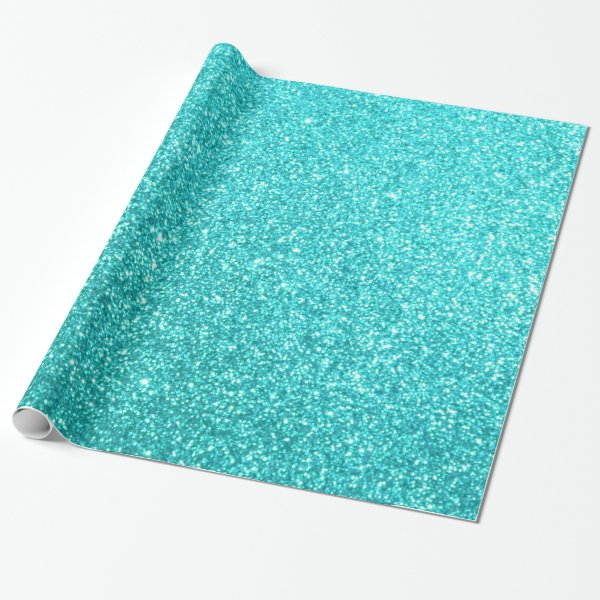 Glitter Template Wrapping Paper