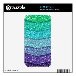 Glitter texture - green to violet calcomanías para el iPhone 4S