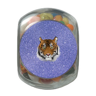 Glitter Tiger Jelly Belly Candy Jars