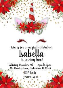 christmas birthday invitations zazzle