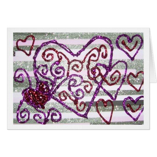 Glitter Valentine Card