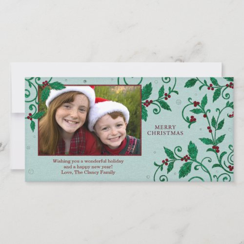 Glitter Vines Holiday Card