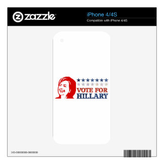 glitter vote hillary iPhone 4 decal
