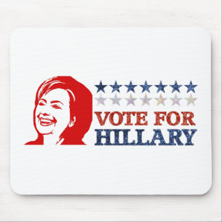 glitter vote hillary mouse pad