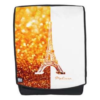 Glitter White Eiffel Tower | Cool Gifts Backpack
