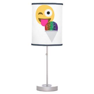 glitter wink emoji lamp