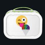 "glitter wink emoji lunchbox lunch box<br><div class=""desc"">&quot;glitter wink emoji &quot;, emoji,  emoticon wink emoji&quot;,  &quot;sequin emoji&quot; &quot;winking emoji&quot;,  &quot;glitter emoji&quot; , &quot;glitter rainbow &quot;&quot;sequin rainbow &quot; sequins ,  trendy, Snowcone, Snocone, &quot; ice cream&quot; , &quot;ice cream emoji&quot;&quot;Emoji Snowcone&quot;emojis, white cute &quot;rainbow emoji &quot; kawaii rainbow,  summer blank &quot;happy face&quot;,  &quot; tongue emoji&quot;</div>"