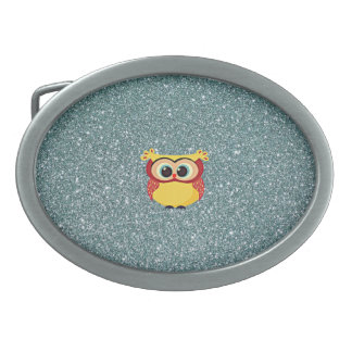 Glitter with Owl Belt Buckle