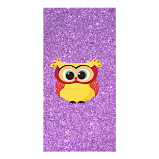 Glitter with Owl Card