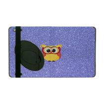 Glitter with Owl iPad Case