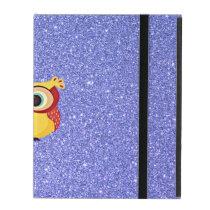 Glitter with Owl iPad Folio Case
