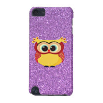 Glitter with Owl iPod Touch 5G Cover