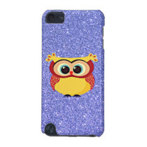 Glitter with Owl iPod Touch (5th Generation) Cover