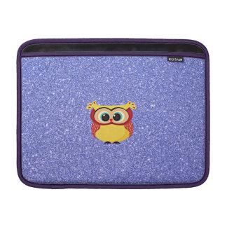 Glitter with Owl MacBook Air Sleeve