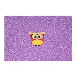 Glitter with Owl Placemat