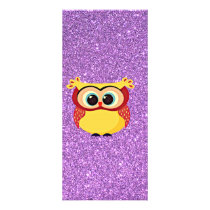 Glitter with Owl Rack Card