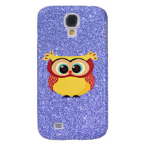 Glitter with Owl Samsung S4 Case