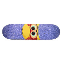 Glitter with Owl Skateboard