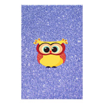 Glitter with Owl Stationery