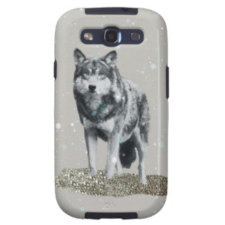 Glitter Wolf Samsung Galaxy SIII Cases