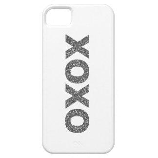 Glitter XOXO Silver iPhone 5 Cases